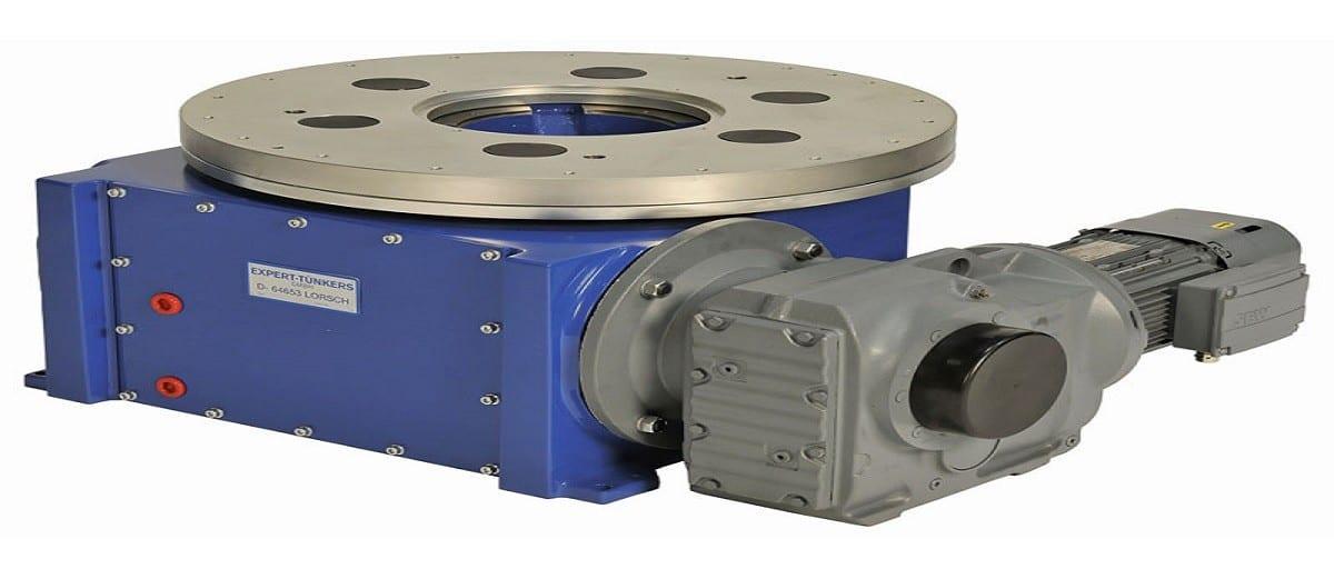 mesa giratória para automação industrial da empresa Tünkers