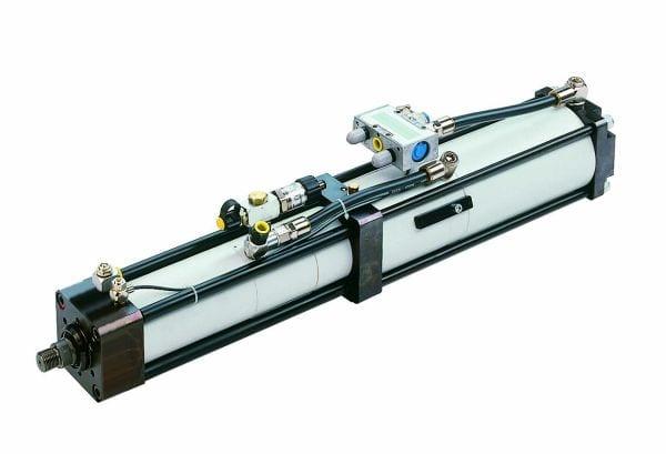 Drive HAZG 65. Transmissor de potência hidráulico pneumático em formato U para pressões operacionais de 5 a 10 bar.